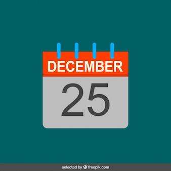 Calendar in flat design