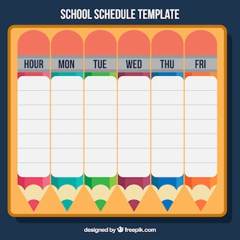 Calendar with pencils for back to school