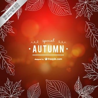 Calligraphic autumn vector