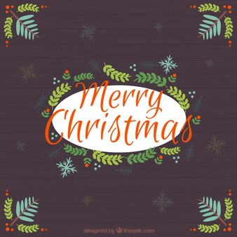 Calligraphic christmas greeting