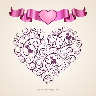 Calligraphic heart