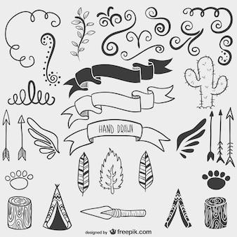 Calligraphic nature drawings