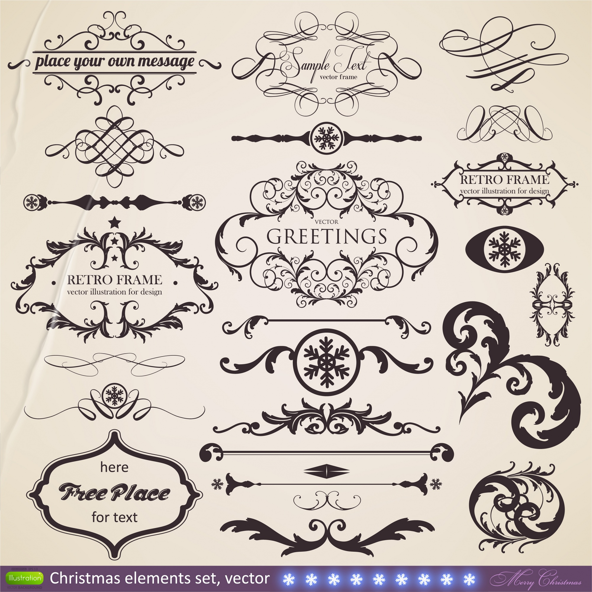 Calligraphy border certificate greeting document
