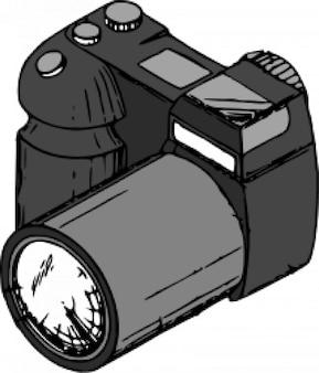 Camera hand drawn