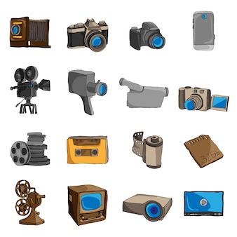 Camera icons collection