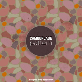 Camouflage pattern in vintage style
