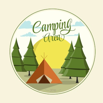 Camping area vector design