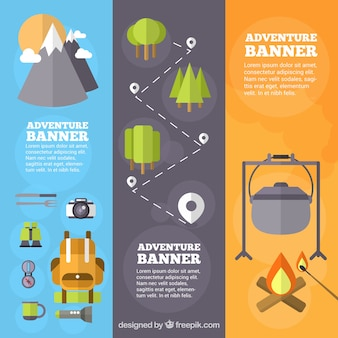 Camping Banner Template