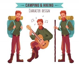 Camping character collection