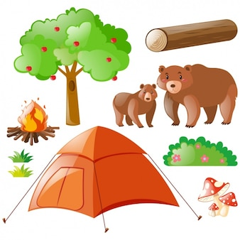 Camping elements collection