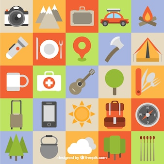 Camping Icon Collection