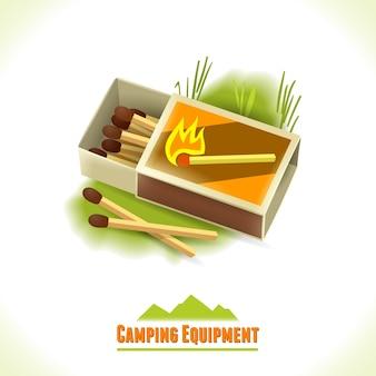 Camping symbol matches