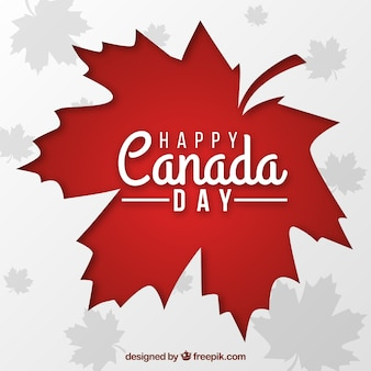 Canada day background with red leaf