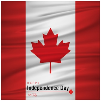 Canada day design with flag