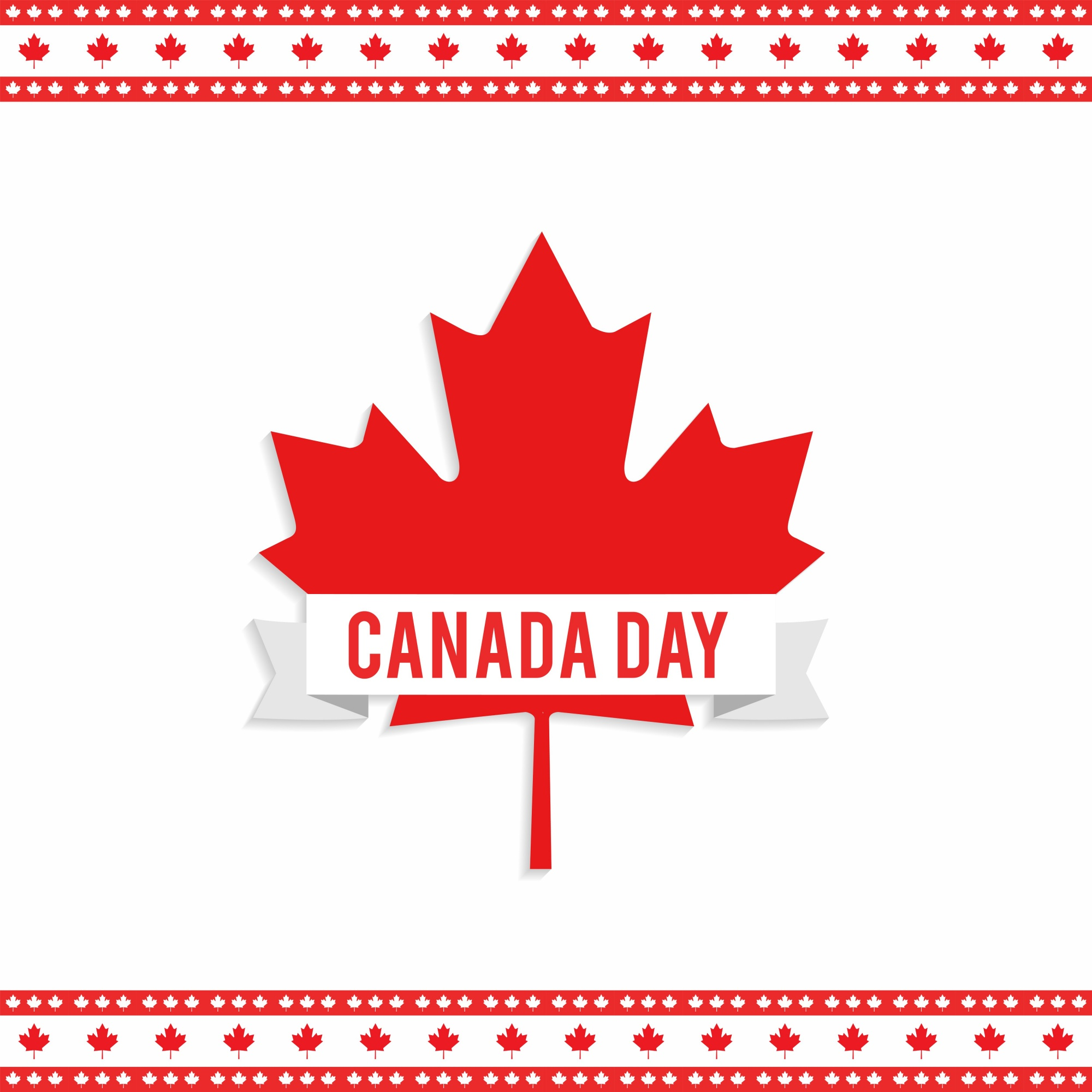 Canada day design with maple leaf