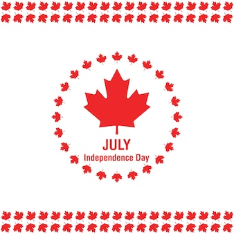 Canada day flag on white background