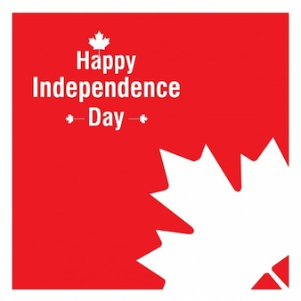 Canada independence day leaf background
