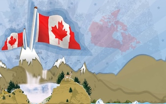 Canadian Mountains Landscape Vector
