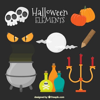 Candelabra and other elements of halloween