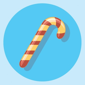 Candy Cane Icon with Shadow