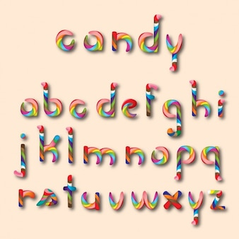 Candy shape alphabet