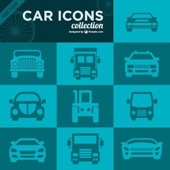 Car icons retro collection