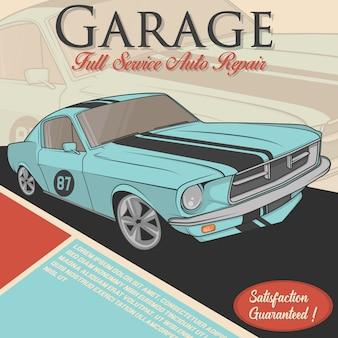 Car repair background design