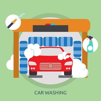 Car wash background design