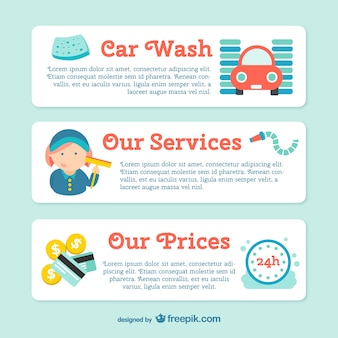 Car wash banner template