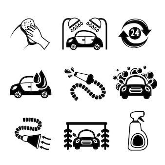 Car wash icons