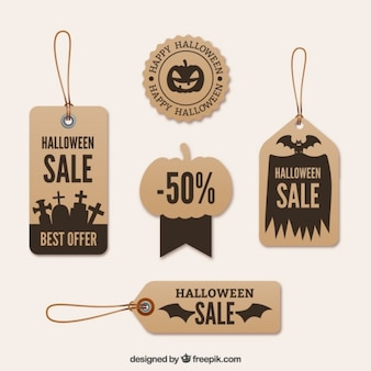 Carboard halloween labels