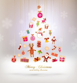 Card festive scrapbook poster tree