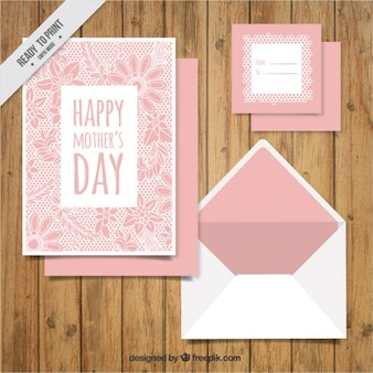 Card for mother's day, floral theme