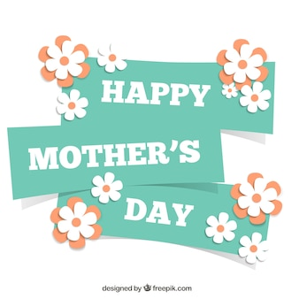 Card for mothers day with flowers