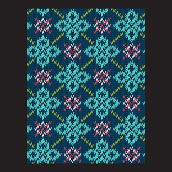 Card of abstract shapes made of knitted