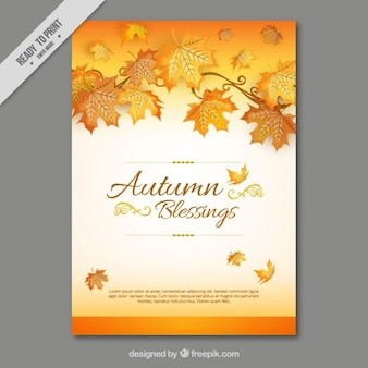 Card of autumnal leaves
