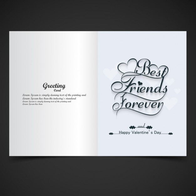 Card of Best friends forever