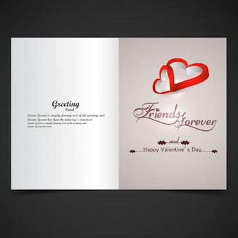 Card of friends forever with hearts