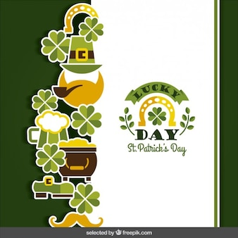 Card of St. Patricks day