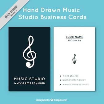 Card with a treble clef