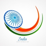 Card with abstract india flag