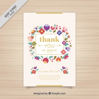 Card with cute flowers