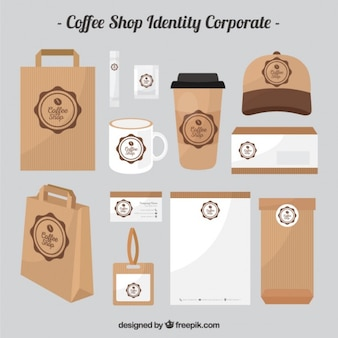 Cardboard coffee shop identity corporate