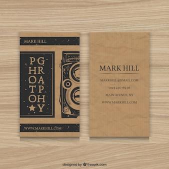 Cardboard photography business card