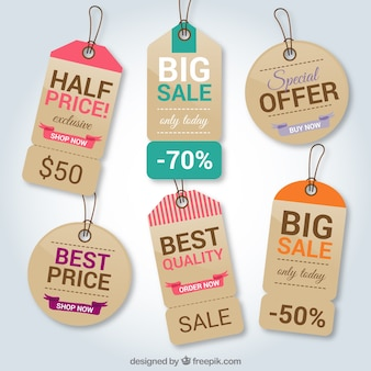 Cardboard shopping tags