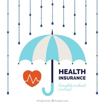 Cardiology, umbrella and rain