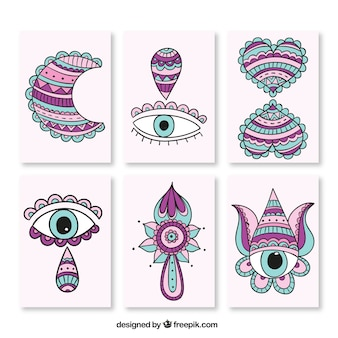 Cards with eyes to ethnic themed