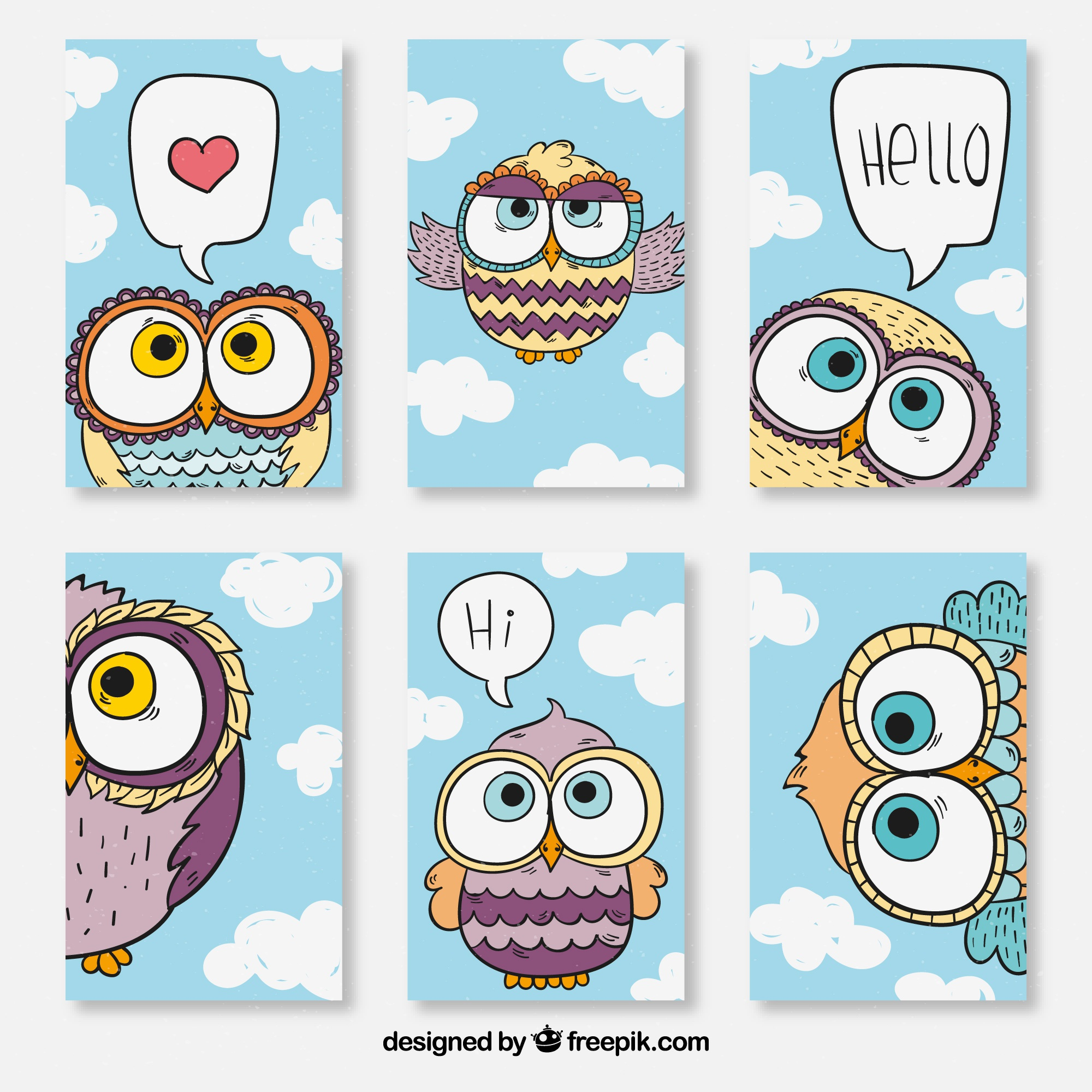 Cards with owl design