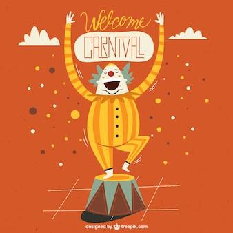 Carnival clown illustration