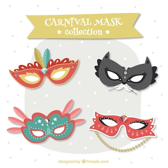 Carnival eye mask collection